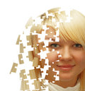 Girl-puzzle Stock Photo