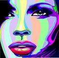 Girl Rainbow Psychedelic Portrait Royalty Free Stock Photo