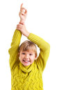 Girl raising hand Stock Image
