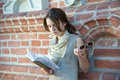 Girl reading Royalty Free Stock Photo