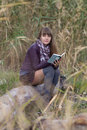 The Girl Reads In Nature