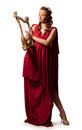 Girl in a red tunic Royalty Free Stock Photo