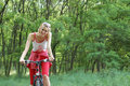 Girl relax biking Stock Images
