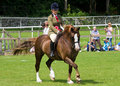 Girl riding horse at Cartmel Show 2011 Stock Image