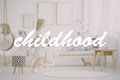 Girl in room through filter Royalty Free Stock Photo
