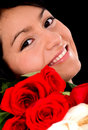 Girl with roses Stock Photo