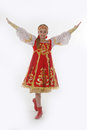 Girl in  russian dancing costume Stock Photography