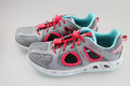 Girl s summer sport shoes on white background Royalty Free Stock Photo