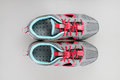 Girl s summer sport shoes on white background Stock Image