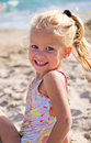 Girl sand Royalty Free Stock Image