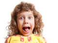 Girl scared Royalty Free Stock Images