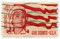 Girl Scout 1962 stamp Stock Photo