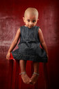 Girl with shaved head Royalty Free Stock Image