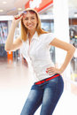 girl in the shop. Royalty Free Stock Photos