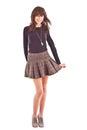 Girl in short skirt Royalty Free Stock Image