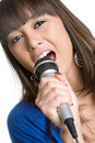 Girl Singing Royalty Free Stock Image