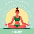 Girl sitting in Yoga Lotus Pose or Padmasana