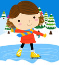 Girl on skates Royalty Free Stock Images