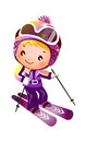 Girl Skiing Royalty Free Stock Images