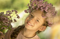 Girl smiling attractive beautiful cheerful child childhood Royalty Free Stock Image