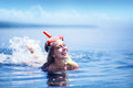 Girl after snorkeling Royalty Free Stock Photo
