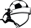 Girl Soccer Shield Royalty Free Stock Photos
