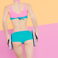 Girl in sports swimsuit Royalty Free Stock Photo