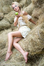 A girl on the straw
