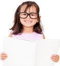 Girl student reading book Stock Images