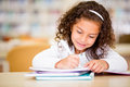 Girl studying at school Royalty Free Stock Photo