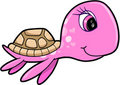 Girl Summer Sea Turtle Animal Vector Royalty Free Stock Photography