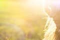 Girl in the summer sun Royalty Free Stock Photo