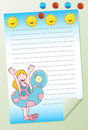 Girl Swimming Notepad Stock Photography