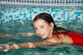 Girl in the swimming pool Royalty Free Stock Photos