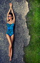 Girl in a swimsuit Royalty Free Stock Photo