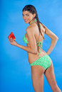 Girl in swimsuit with watermelon Royalty Free Stock Photo