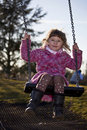 Girl on the swing Royalty Free Stock Photo