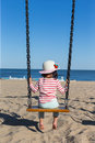 Girl on swing Royalty Free Stock Photo