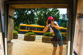 Girl Take a Picture in a Mirrow in Belgrade Serbia Royalty Free Stock Photo
