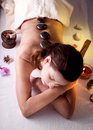 Girl takes the spa treatments Royalty Free Stock Photography