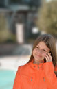 Girl talking on her cellphone. Royalty Free Stock Photo