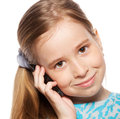 Girl, talking on the phone Royalty Free Stock Image