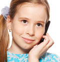 Girl, talking on the phone Royalty Free Stock Photo