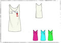 girl tank top with abstract heart design illustration Royalty Free Stock Photo