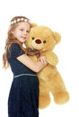Girl with a Teddy bear. Royalty Free Stock Photo