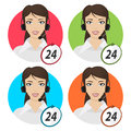Girl telephone operator illustration format eps Stock Image