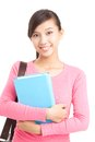 Girl with textbook Royalty Free Stock Photography