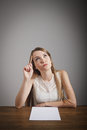 Girl in thoughts. Royalty Free Stock Image