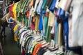 Girl thrift store shopping 2 Stock Image