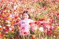 Girl Throwing Flower Petals